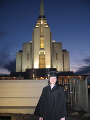The Graduate Outside the Rexburg Temple