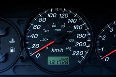 Mazda Protege instrument cluster