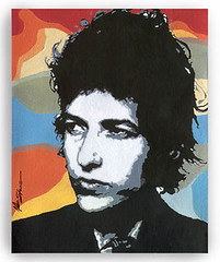 BOB DYLAN (popartdks) Tags: blue red portrait art yellow painting acrylic originalart paintings canvas popart bobdylan celebrityportraits