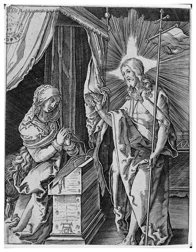 Cristo apareciendose a su madre