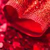 Subtle Love [Explored] (Kate H2011) Tags: 2017 katehighley macro ef100mmf28macrousm macromondays hmm indoor depthoffield handheld red mono monochrome heart ribbon confetti bokeh square bsquare 500x500 valentine valentines explored explore
