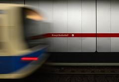 Munich - The Train Is Gone (cnmark) Tags: germany deutschland bavaria bayern munich münchen hauptbahnhof centralstation ubahn subway tube station zug train action movement motion moving bewegungsunschärfe motionblur ©allrightsreserved