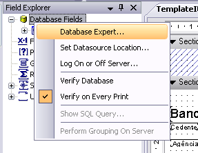 DataBase Fields -> Expert