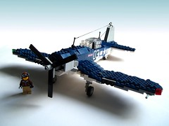 F4U Corsair (3) (Mad physicist) Tags: fighter lego aircraft navy ww2 corsair usnavy vought projectintrepid