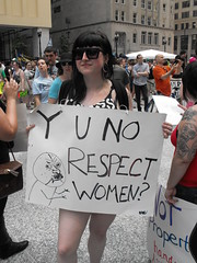 Y U No Respect Women? (softjunebreeze) Tags: chicago downtown michiganave womensrights equalrights daleyplaza antirape sexpositive womensempowerment slutwalk
