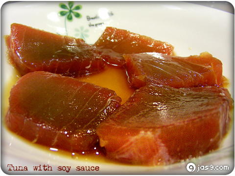Tuna with soy sauce 1