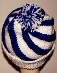 spiral knit hat