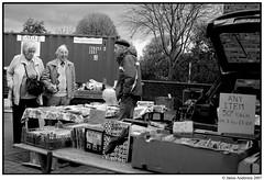 Crewe Market Trader Scene (Bonnie Prince Jamie) Tags: blackandwhite bw market photojournalism documentary social scene crewe traders jamieanderson capture37 bonnieprincejamie