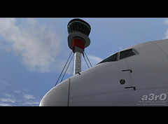 Heathrow Tower (a3rO) Tags: heathrow fs2004 fs9 b767 egll isombaairlines