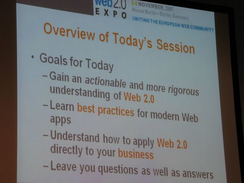 Dion Hinchcliffe at Web 2.0 Expo in Berlin