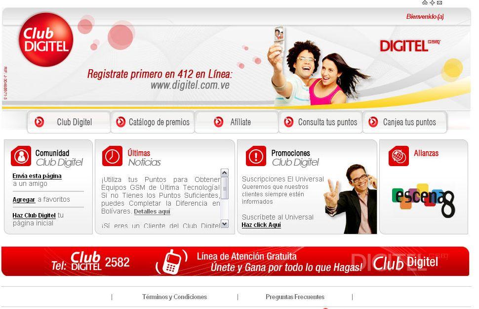 Esta es la página web del Club Digitel GSM .