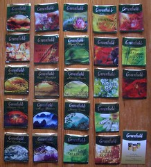 Greenfield tea samples