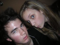 mandy and kevin  he looks mad (hbfrares1) Tags: hello beautiful brothers jonas rares fansite