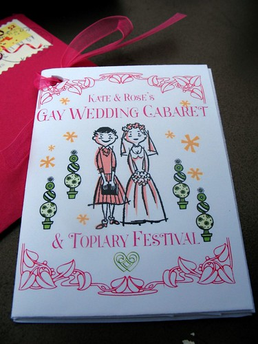 Gay Wedding Cabaret The Wedding Program