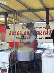 Making aligot at a Paris market