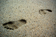 my footprint @ teluk chempedak (Fyrul) Tags: sand footprints