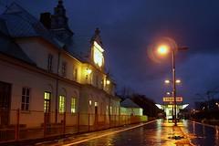 waiting for the night train (green_lover) Tags: lamp night dark lights platform poland railway railwaystation zyrardow supershot yrardw