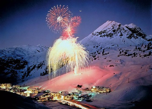 New Year fireworks in Zuers