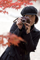 on my birthday (yocca) Tags: camera autumn portrait me thankyou 100v10f explore momiji mybirthday 2007 nov2007 bymmakino   interstingness1126158