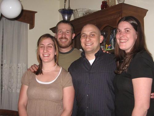 four kids at hannukah