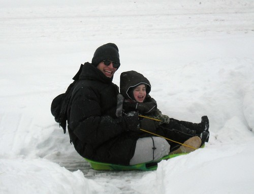 All smiles on the sled