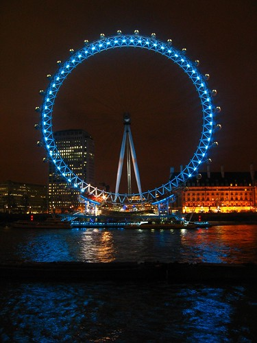 London by night - The London Eye