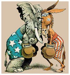 Republican elephant Democratic jackass