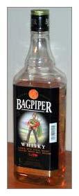 Bagpiper Whiskey Bottle