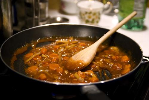 mapo tofu sauce + veggies