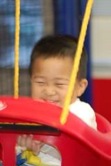 Swinging smile