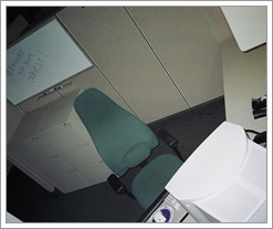 Boring Office Cubicle by whatsthediffblog, on Flickr