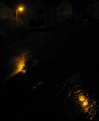 Dark Street in the Rain