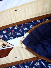sailboat quilt border and back