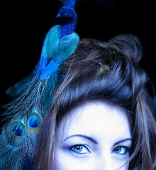 SPT - A Barnet Nest Head Day (Heidi Burton / Making Strangers) Tags: blue portrait girl self eyes nest head turquoise teal longhair peacock barnet spt prat fineartphotos propek dianastainton