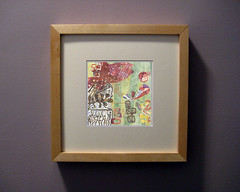 Mermaid Collage Repoduction Framed