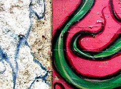 mural detail (msdonnalee) Tags: pink abstract green wall catchycolors textures texturas abstractos  donnacleveland