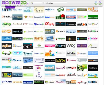 captura del sitio go2web20.net