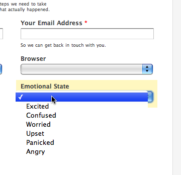 Emotional State Added to Support Request Form