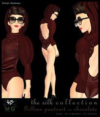 [MG fashion] Gillian pantsuit - The Silk Collection 6 (chocolate)