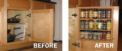 spice rack project - before and after
