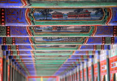 The Long Corridor (... Arjun) Tags: china blue red 15fav color colour green 1025fav 510fav painting hall vanishingpoint nikon asia long dof slow bokeh pastel chinese beijing corridor 100v10f hallway unescoworldheritagesite worldheritagesite 2550fav walkway strip repetition  summerpalace extended d200  longcorridor stretched passage 2008 freetibet passageway peoplesrepublicofchina lingering kunminglake extensive 200mm elongated lengthy leadinglines  timeconsuming prolonged mainlandchina chnglng sustained 18200mmf3556g bluelist protracted aircorridor accessstrip 728meters