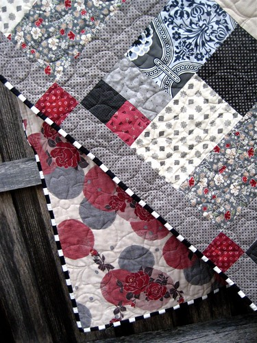 Wedding quilt binding