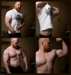Shameless Self Promotion (todd*) Tags: shirtless collage shirt self arm garage steps bodybuilding pump tiny flex taking workout showoff selfpromotion ieatsmespinach andprotein