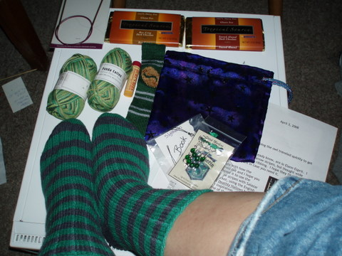 Socks and a wonderful package from Lisa!