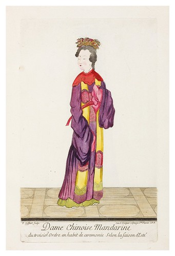 Dama china mandarin de 3º orden en ropa de ceremonia