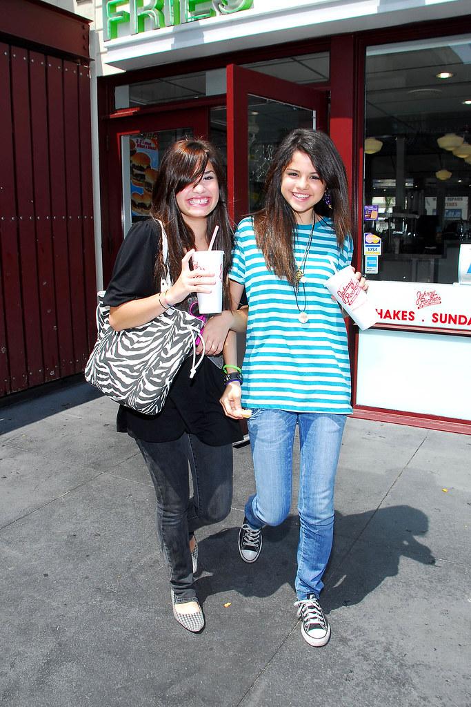 Selena Gomez with friend Demi Lovato