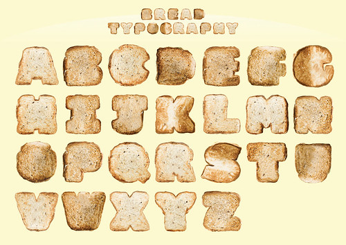 Bread Typography by justintanwy.