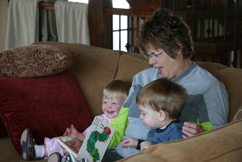 Grandma reads a story