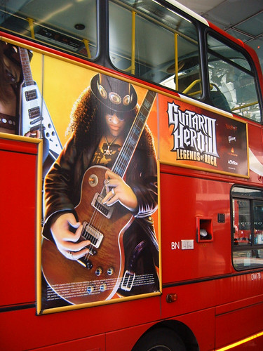 Guitar Hero III on London Bus