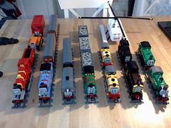 LEGO Thomas and Friends (highflying) Tags: toby james bill duck oliver lego diesel ben thomas harold annie bertie mavis percy terence henrietta clarabel troublesometrucks railwayseries